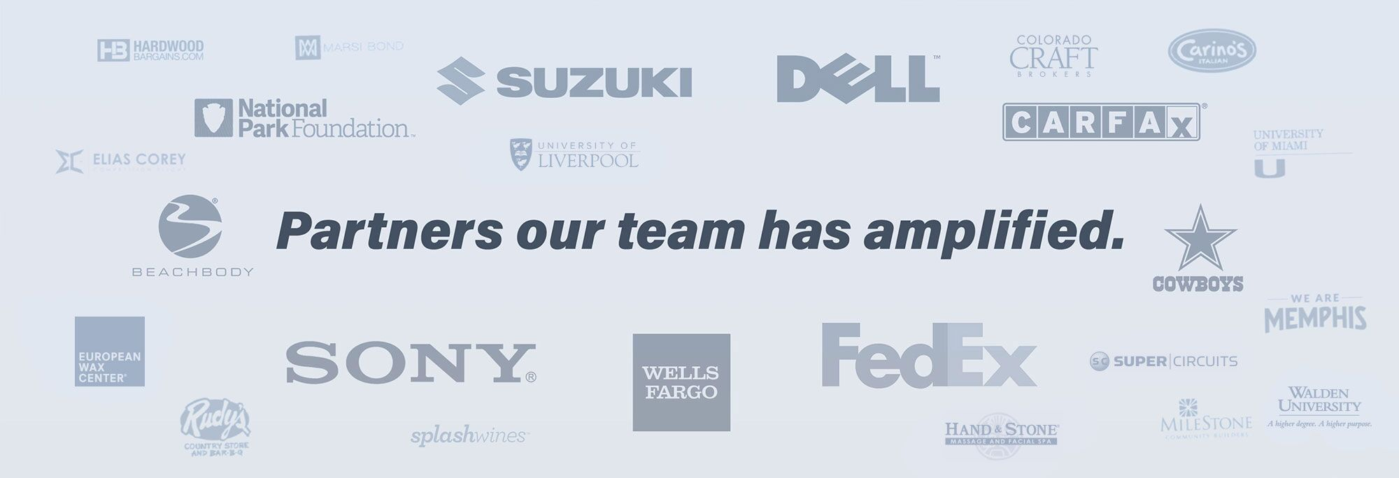 Partners Our Team Has Amplified